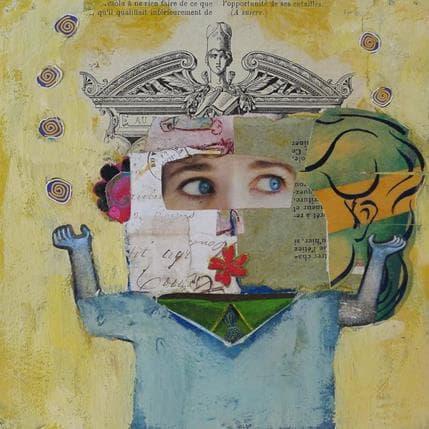 Miguel De Sousa Femme joyeuse 19 x 19 cm