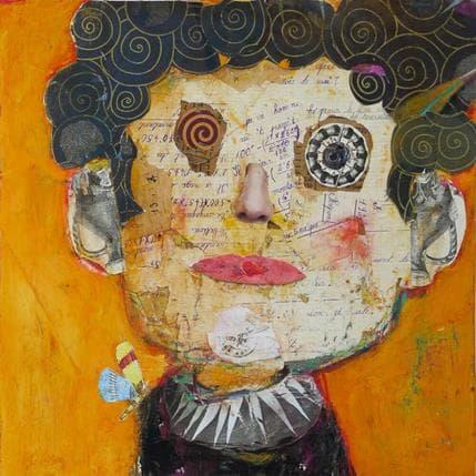 Miguel De Sousa Visage au papillon 25 x 25 cm
