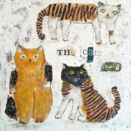 Miguel De Sousa The cats 36 x 36 cm