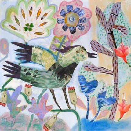 Miguel De Sousa L'oiseau vert 36 x 36 cm
