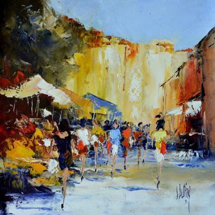 Dominique Dupin Un marché du Sud 36 x 36 cm