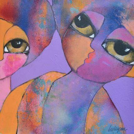 Hanna Ekegren Purple rain 25 x 25 cm