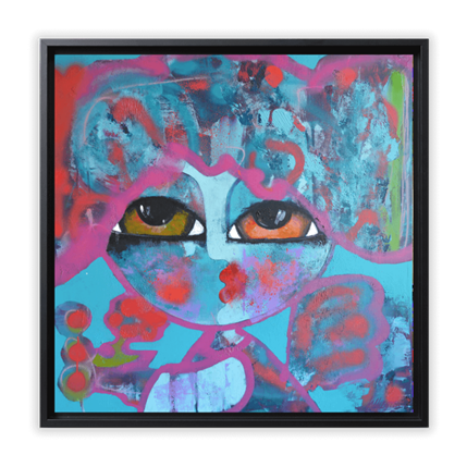 Hanna Ekegren Little love bird 80 x 80 cm