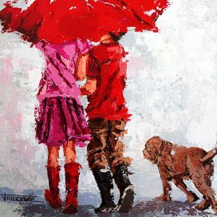 Francesca Escobar Bajo el paraguas 36 x 36 cm