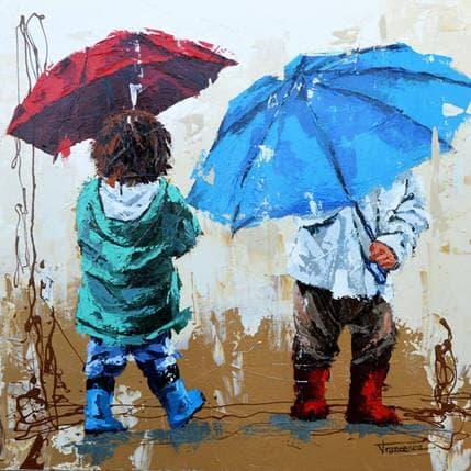 Francesca Escobar Jugando con la lluvia 80 x 80 cm