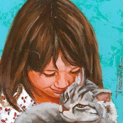 Francesca Escobar Cat 19 x 19 cm