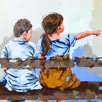 Francesca Escobar Señalando 100 x 100 cm