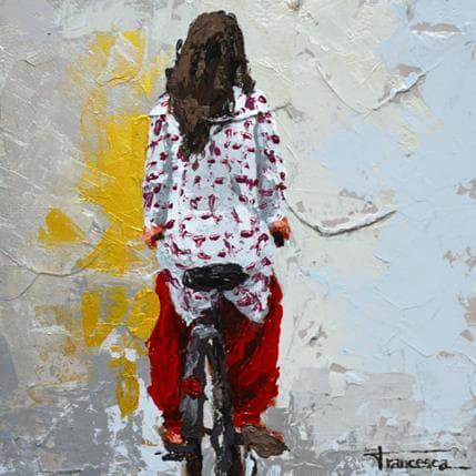 Francesca Escobar Nepal en bici 25 x 25 cm