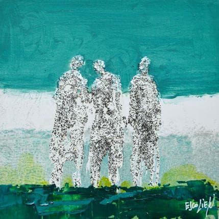 Odile Escolier Trio matière 13 x 13 cm