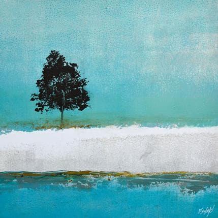 Odile Escolier Un arbre au milieu de ... 36 x 36 cm