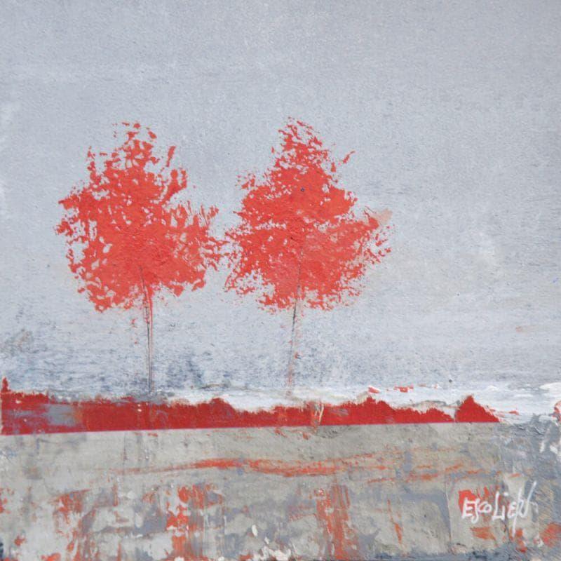 Deux arbres rouges
