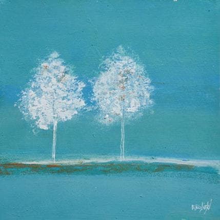 Odile Escolier Tranquillité des arbres 19 x 19 cm