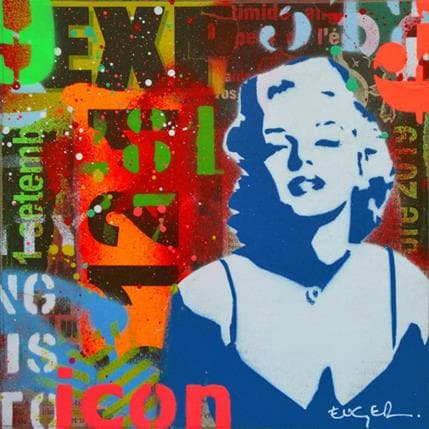 Philippe Euger Marilyn icon 19 x 19 cm