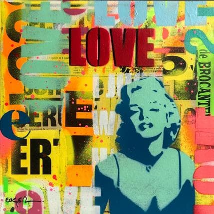 Philippe Euger Love Marilyn 25 x 25 cm