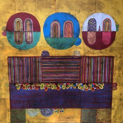 Gustavo Ortiz Trois Pollos sin cuelo 100 x 100 cm