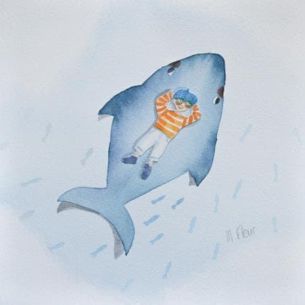 Marjoline Fleur Victor et la baleine bleue 19 x 19 cm