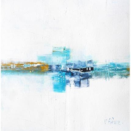 Véronique Fièvre Reflets bleus 19 x 19 cm