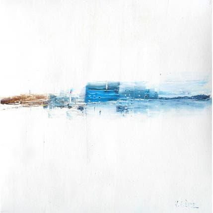 Véronique Fièvre Maison bleue 36 x 36 cm