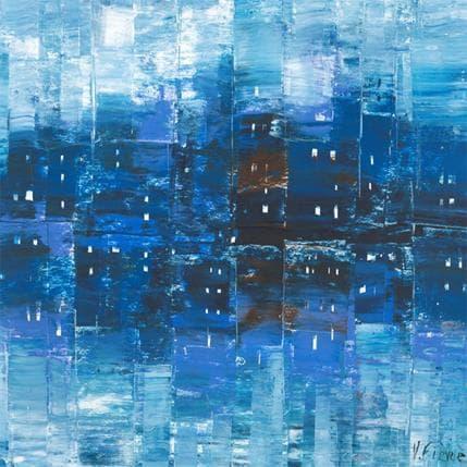 Véronique Fièvre Compositions en bleu 36 x 36 cm