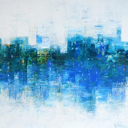 Véronique Fièvre Métropole en bleu 36 x 36 cm