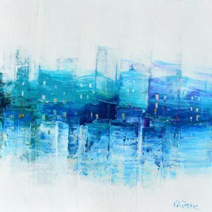 Véronique Fièvre Façades bleues 19 x 19 cm