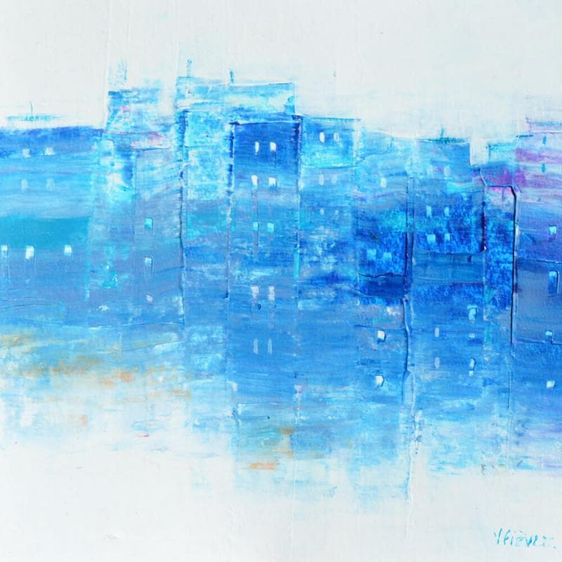 Petit village en bleu