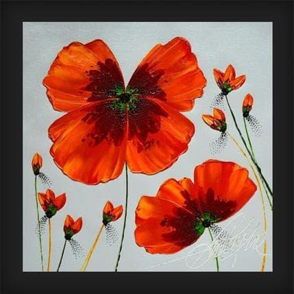 David Fonteyne Pleine fleur en plein coeur 25 x 25 cm