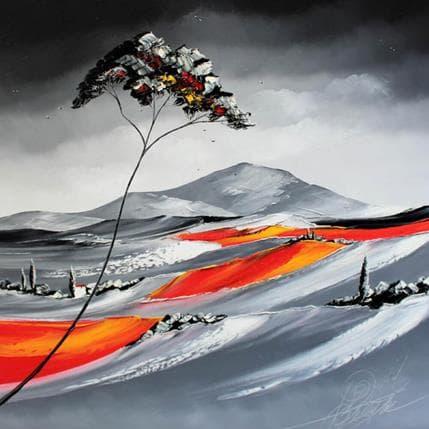David Fonteyne Ce soir sous le pin parasol à Mougins 80 x 80 cm