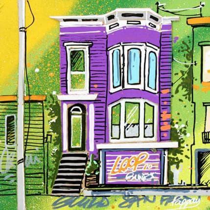 Pappay Purple house 13 x 13 cm