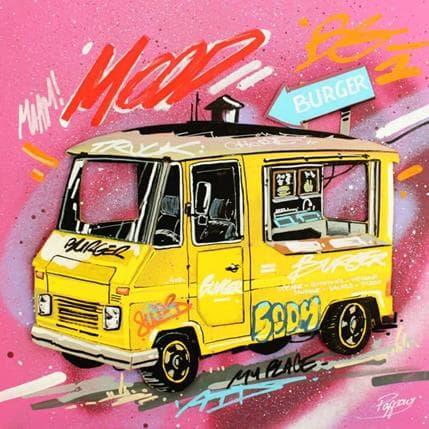 Pappay Yellow truck 36 x 36 cm