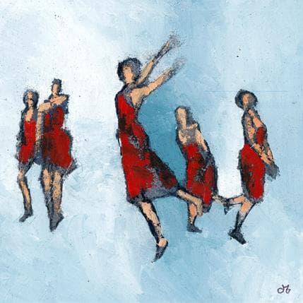 Corinne Malfreyt-Gatel Gazelles 36 x 36 cm