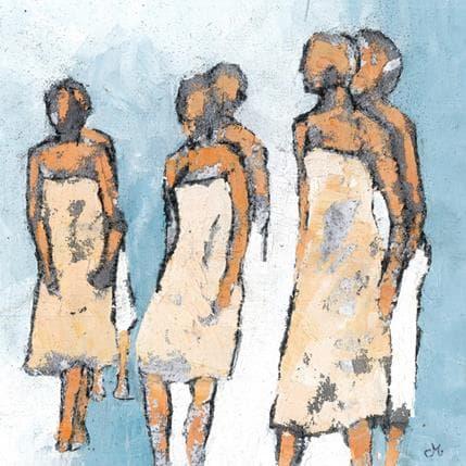 Corinne Malfreyt-Gatel En marche 36 x 36 cm