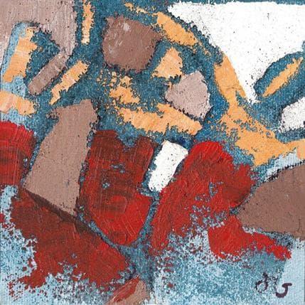 Corinne Malfreyt-Gatel Trio rouge et taupe 13 x 13 cm