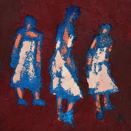 Corinne Malfreyt-Gatel Trio framboise 19 x 19 cm