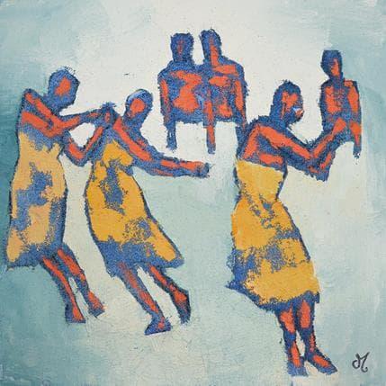 Corinne Malfreyt-Gatel La vague 36 x 36 cm
