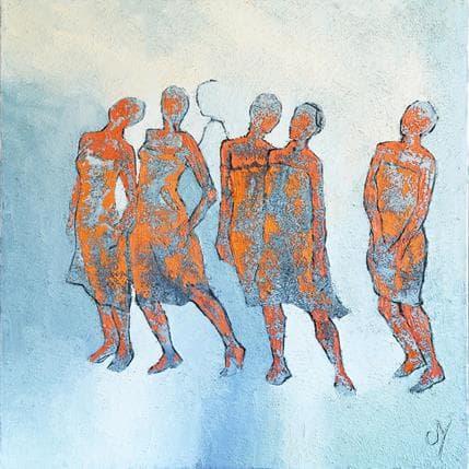Corinne Malfreyt-Gatel Le cortège 100 x 100 cm