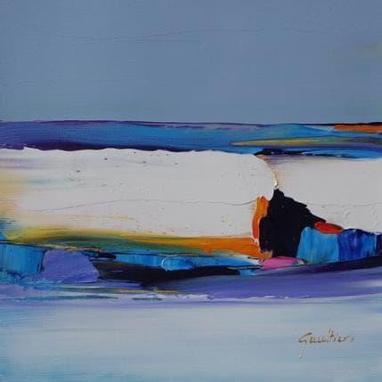 Dominique Gaultier Plage à Ostende 19 x 19 cm