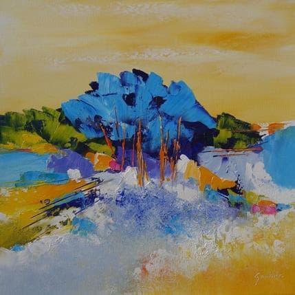Dominique Gaultier Paysage aux arbres 36 x 36 cm