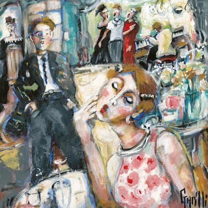 Nicole Garilli Vintage style pour RV amoureux 36 x 36 cm