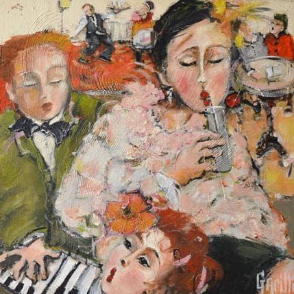 Nicole Garilli Musicale pause limonade 50 x 50 cm