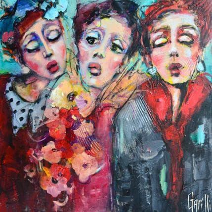 Garilli Nicole Fleurs et froufrous pour Melles 50 x 50 cm