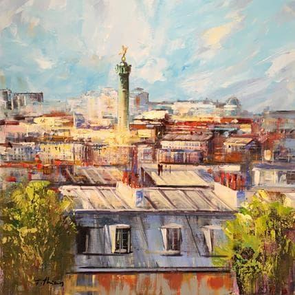 Frédéric Thiéry Toîts de Paris - Bastille 70 x 70 cm
