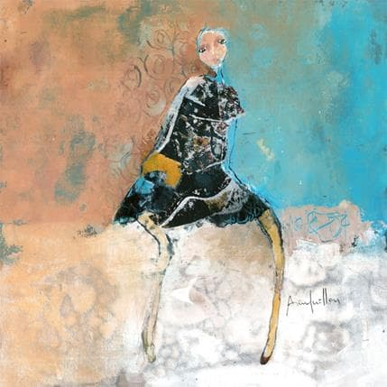 Anne Guillon Portrait de celle qui regarde la mer 36 x 36 cm