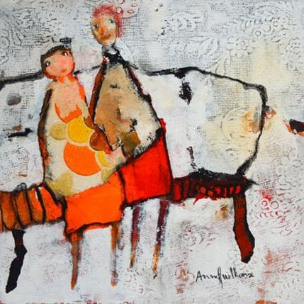 Anne Guillon Partage naïf 25 x 25 cm