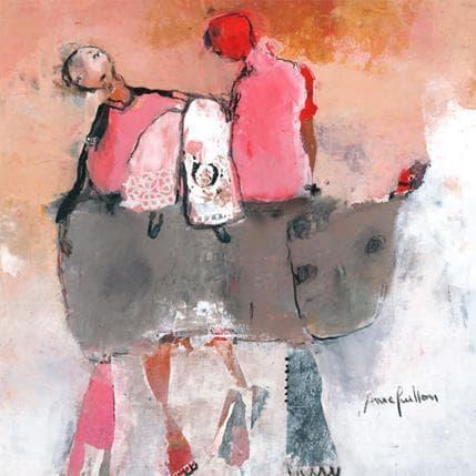 Anne Guillon Echappée en rose 36 x 36 cm