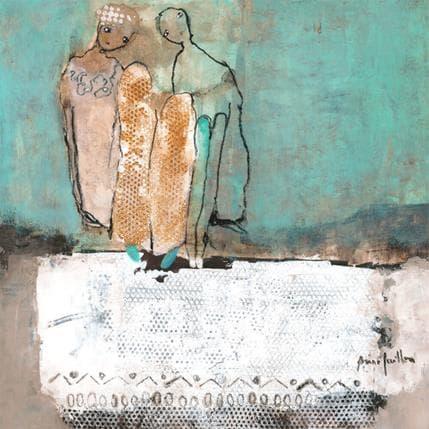 Anne Guillon Se parer de presque bleu 36 x 36 cm