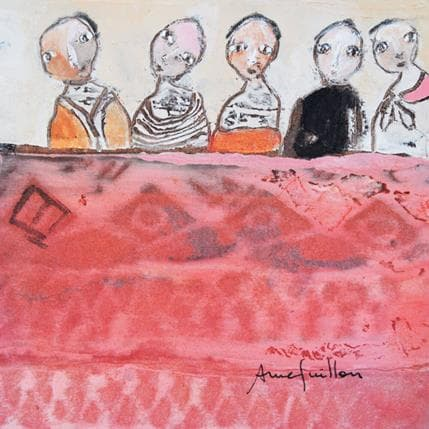 Anne Guillon Paravent rose 13 x 13 cm