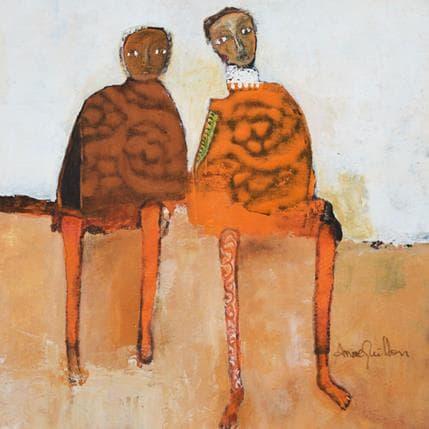 Anne Guillon La mémoire des rivages 25 x 25 cm