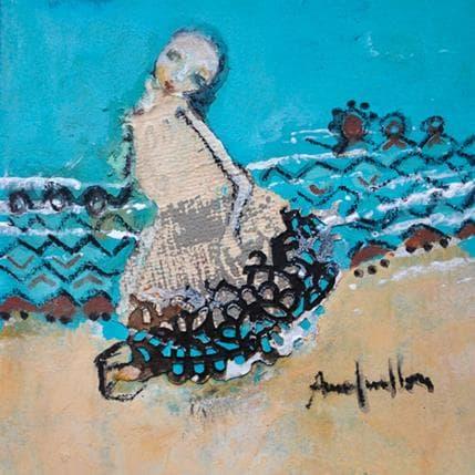 Anne Guillon Le sable et l'eau 13 x 13 cm