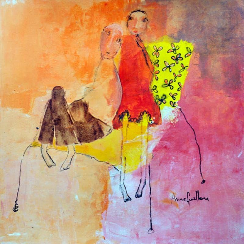 Fauteuil jaune à fleurs